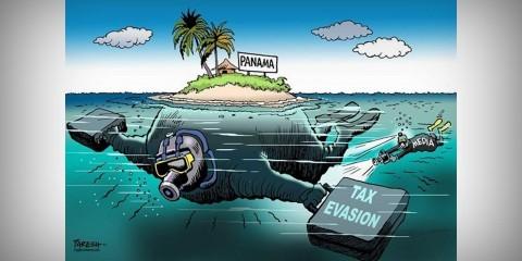 Panama tax haven / Paresh Nash / Cagle Cartoons
